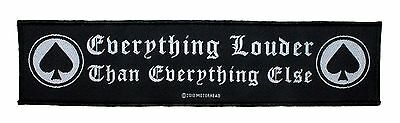 """SS Motorhead """"Everything Louder Than Everything Else"""" Band Sew On Applique Patch"""
