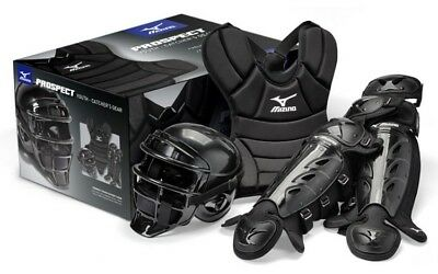 Mizuno MPP1300 Prospect Junior Youth Catchers Gear Box Set Fits Ages 8-10 New!