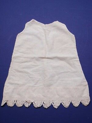Vintage Antique Infant Baby Slip Sleeveless Petticoat Lace Hem White 1930s 1940s