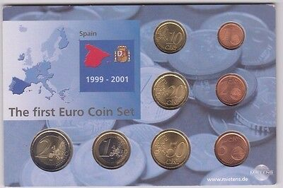 Coins Spain euro 2002 set of 8 in original pack, popular