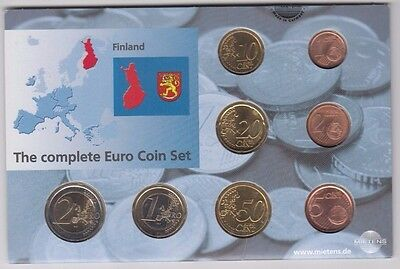 Coins Finland euro 2002 set of 8 in original pack, popular