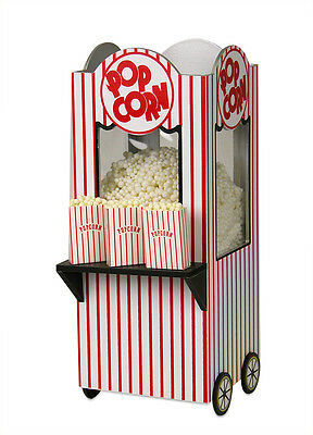 Byers Choice Old Fashioned Popcorn Vending Machine Red White Stand Accessory