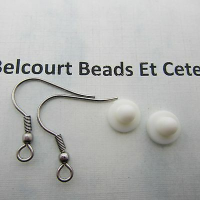 50 Stainless Steel Ear Wires with Loop and Ball and 50 Rubber Ear Nuts  Earrings