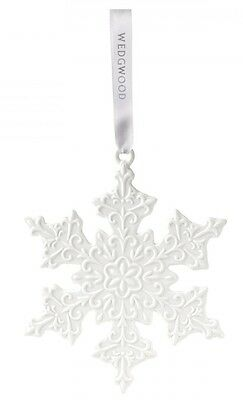 Wedgwood White Snowflake Scrollwork Porcelain Christmas Ornament Decoration New