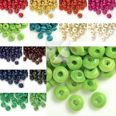 Appr.800pcs Rondelle Wood Beads Wooden Spacer Loose Beads Jewelry Makings 3x6mm