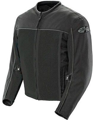Joe Rocket Velocity Mens Mesh Jacket With Rain Liner Black Xxxl 3Xl