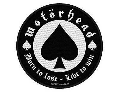 MOTORHEAD born to lose 2010 WOVEN SEW ON PATCH official merchandise LEMMY