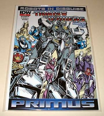 The TRANSFORMERS : ROBOTS IN DISGUISE ANNUAL 2012 PRIMUS 2nd PRINTING VFN/NM