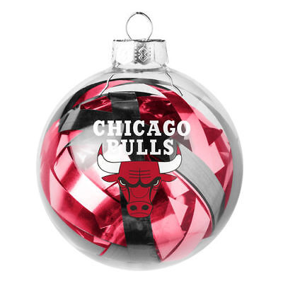 Chicago Bulls Large Tinsel Ball Ornament - NBA