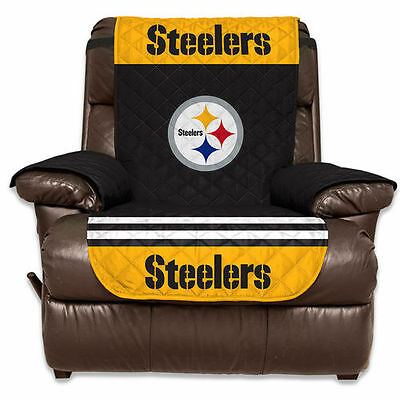 """Pittsburgh Steelers 65"""" x 80"""" Recliner Water-Absorbent Furniture Protector - NFL"""