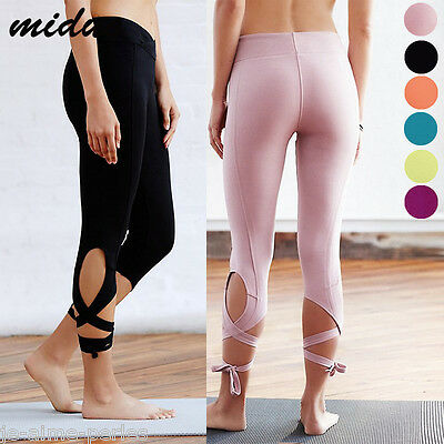 Sports Femmes Pantalon Gym Fitness Leggings Danse Course Extensible Rapide Seche