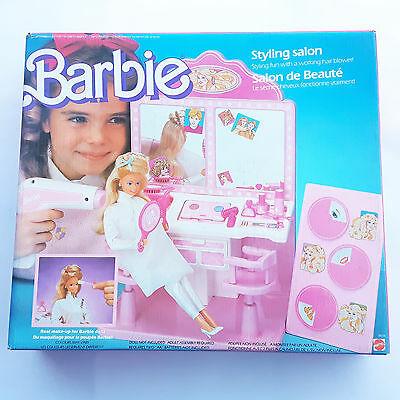 VINTAGE BARBIE MATTEL - 3873 Salon de beautu00e9 - Styling salon 1987 MOC NEW u2022 EUR 2999 - PicClick IT