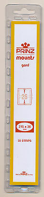 Prinz Scott Stamp Mount 26/215 - CLEAR Background - Pack of 22