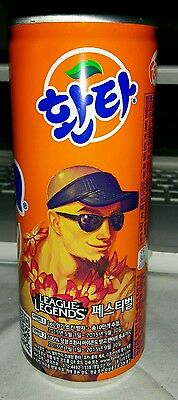 Coca-Cola Orange Fanta Korean Lee Sin  League of Legends Can-Empty, minor crease