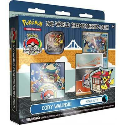 POKEMON WORLD CHAMPIONSHIP DECK * 2016 Cody Walinski-Ninja Blitz