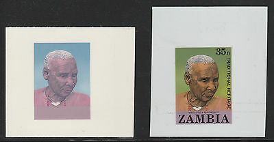 Zambia (207) 1987 People of Zambia 35n TWO CROMALIN PROOFS