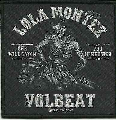 VOLBEAT lola montez 2015 - WOVEN SEW ON PATCH official merchandise (sealed)