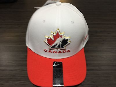 2017 World Juniors Championship Team Canada WJC IIHF Hat Cap White Adjustable