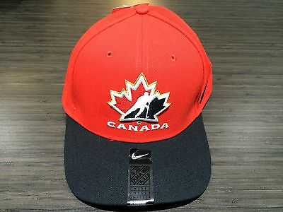 2017 World Juniors Championship Team Canada WJC IIHF Hat Cap Red Adjustable