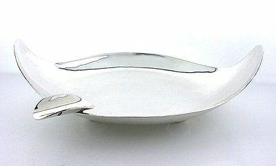 Vintage 4 1/4 x 3 Inch Cigarette Cigar Ashtray Pure .925 Solid Sterling Silver
