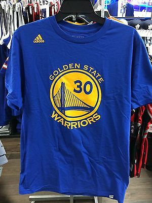 NBA Golden State Warriors Adidas Steph Stephen Curry Name Number T Shirt Large