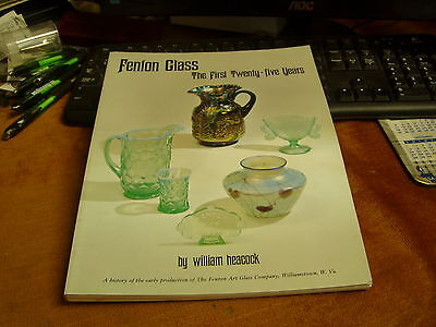 Fenton Glass,The First Twenty-Five Years Book,Softcover