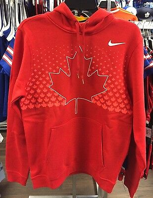 2017 World Juniors Championship Team Canada Red Player Hoodie Sweatshirt Medium