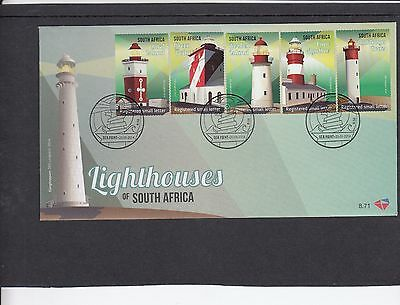 South Africa 2014 Lighthouses First Day Cover FDC
