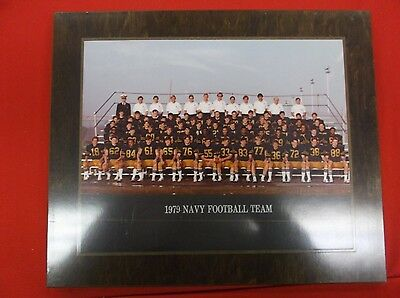 SC3) Vintage 1979 Navy Midshipman Football Team Photo Wooden Plaque George Welsh