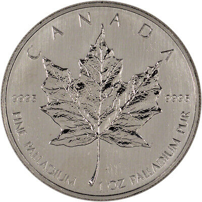 Canada Palladium Maple Leaf - 1 oz - $50 - .9995 Fine - Random Year