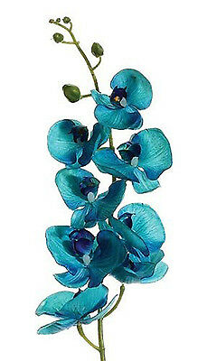 OASIS BLUE MALIBU Phalaenopsis Orchids Silk Wedding Flowers Bouquet Centerpieces