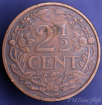 1913 Netherlands Two & Half Cents, 2 1/2 cents coin [7896]