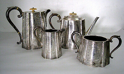 Lot of 4 - Vintage SilverPlate Tea Set Sugar Cream Teapot Coffee Pot Antique 809