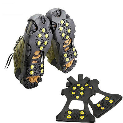 Ice Snow Anti Slip Spikes Grips Gripper Crampon Cleats For Shoes Overshoe 1 Pair