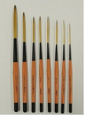 Drag'n Fly Ted Turner Signature Series Pinstriping Brush Any Size OR Set of 8