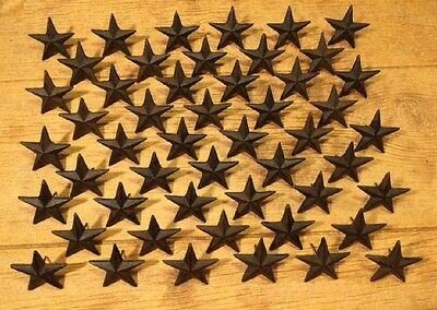 "Cast Iron Texas Star Nail Medium 2 3/4""(Set of 50) Flag Craft Decor 0170S-02112"