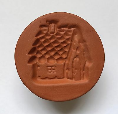 New Rycraft Gingerbread House Glazed Handle Cookie Stamp with Biscuit Cutter