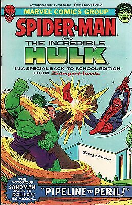 Spider-Man and The Incredible Hulk Special Back-to-School Edition Sanger-Harris