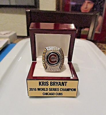 KRIS BRYANT 18K 2016 World Series Ring & Custom Display CHICAGO CUBS un signed