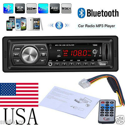 Bluetooth Car In-Dash FM Radio Stereo Audio Receiver MP3 Player SD/USB Aux Input