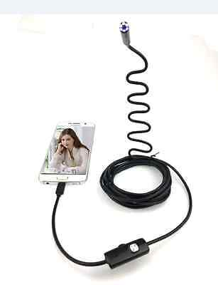 8mm Flexible Endoscope Borescope Snake Inspection Camera Scope Android WIFI