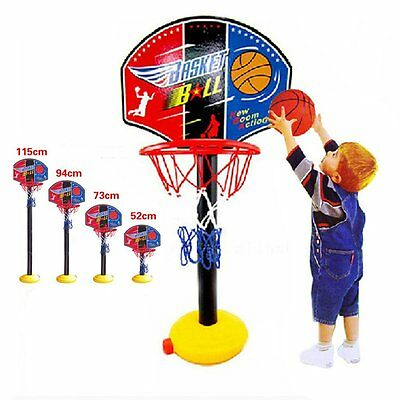 Kids Portable Basketball Sports Toy Set With Stand Ball & Pump Toddler Baby Play