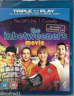 The Inbetweeners Movie (Blu-ray and DVD Combo, 2011, 3-Disc Set) NEW SEALED