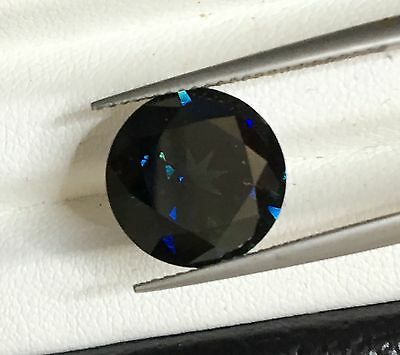 Natural Blue Green Sapphire Round 7.19ct