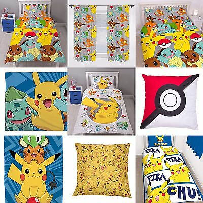 POKEMON KIDS BOYS GIRLS BEDROOMS - Choose 1 or More - DUVET GIFTS PRESENTS