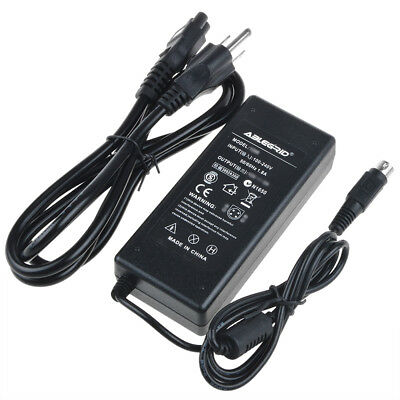 4-Pin AC DC Adapter For Chi CH-1265 12V LCD Monitor Charger Power Supply Cord