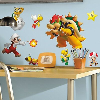 RoomMates Repositionable Childrens Wall Stickers Nintendo Super Mario NEW