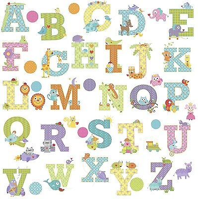 RoomMates Repositionable Childrens Wall Stickers - Happi Animal Alphabet NEW