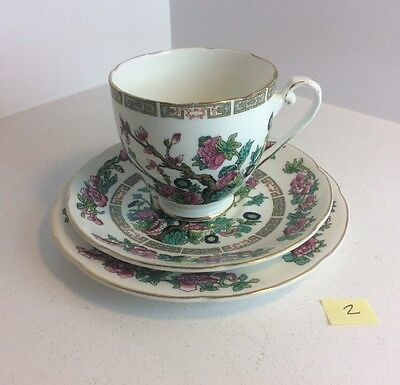 """1950s Royal Grafton China """"Indian Tree"""" Cup, Saucer And Side Plate Trio"""