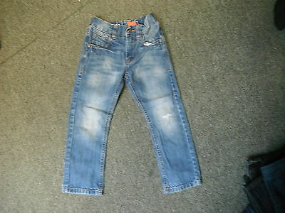 "Next Straight Jeans W 22"" L 18"" Faded Medium Blue Boys 5 Yrs Jeans"